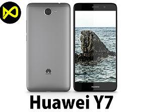 Huawei Y7 Space Gray 3D model