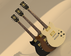 YAMAHA SBG-200 electric guitar 3d model models