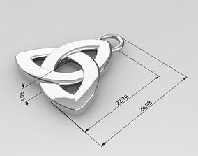 3D model Triquetra Pendant