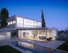 3d cottage architectural