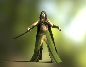 3D asset Female Forest Wizard