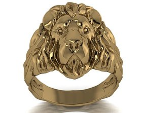 3D printable model lion ring 2 queen