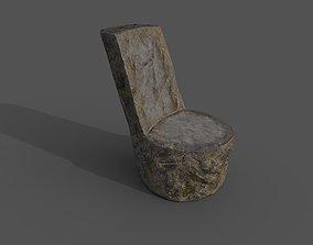3D asset Stone chair
