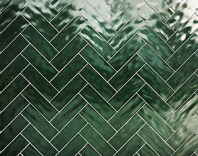 3D model Green botle tiles