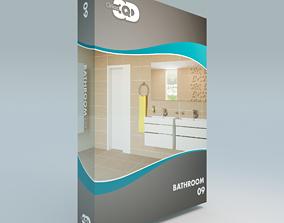 Bathroom 09 3D model game-ready