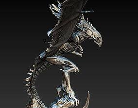 Flying queen alien xenomorph 3D