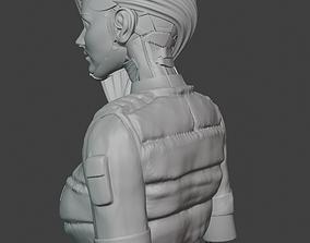 CYBER PUNK BUST 3D PRINT