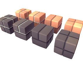Cube World Brick Block - Proto Series 3D model