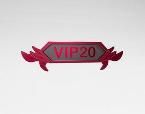 3D model Game VIP Symbol v4 016