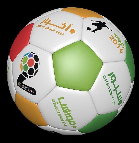 3d High Detail vector soccer ball