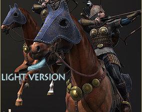 Eva And Adam Horseman Archers Light Version 3D asset
