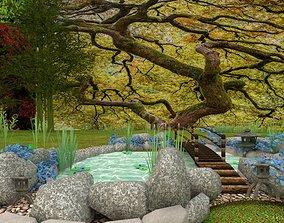 japanese garden bond 3D model exterior