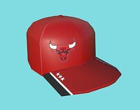3D model Chicago Bulls Cap - Low Poly NBA - Character Hat