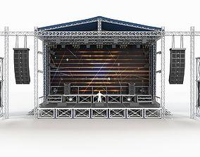 3D model Concert Scene