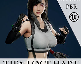 3D model Tifa Lockhart - Game Ready