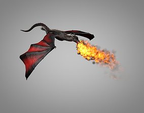 3D asset animated realtime Dragon