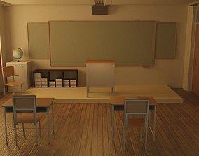 3D model student classroom