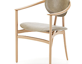 Bianca arm chair light colored 3D
