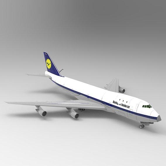 Boeing 747 Jumbo Jet  Air Plane