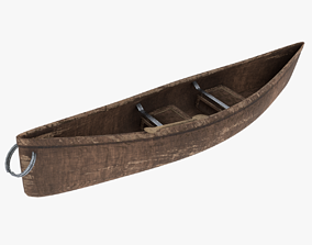 Native Canoe 3D model low-poly