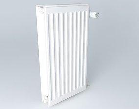 3D Two blades steel radiator H720 L390