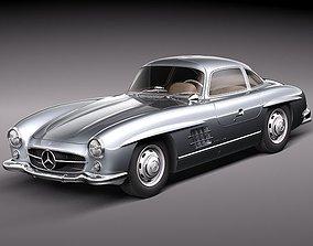 Mercedes Benz 300 SL Gullwing 3D model