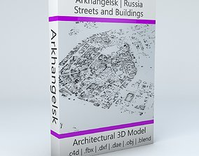 3D Arkhangelsk Streets and Buildings