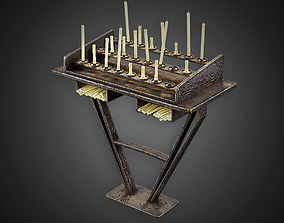 3D model Candle Stand - MVL - PBR Game Ready