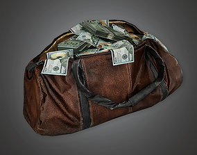 3D asset BHE - Cash Money Bag - PBR Game Ready