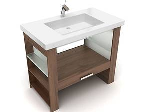 Modern Bathroom Vanity 3D