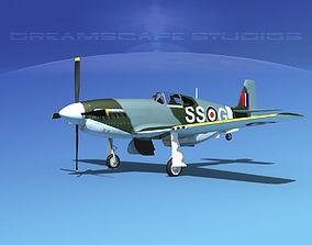 North American Mustang X RAF V05 3D