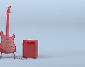 3D Yamaha Pacifica Guitar