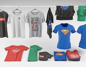 T-shirt collection 3D model