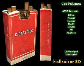 3D model Cigarette Box - PBR - Textured