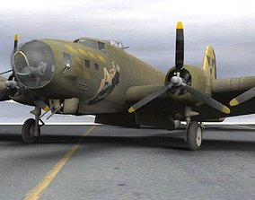3D B-17G Flying Fortress for Poser