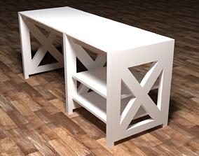 White Desk 3D model