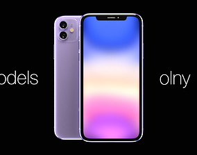 3D model Apple iPhone 11 purple Models Only