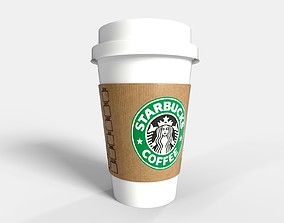 PBR Starbucks Coffee Cup - PROMOTION 3D model