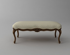 Traditional Style Bench 2 3D