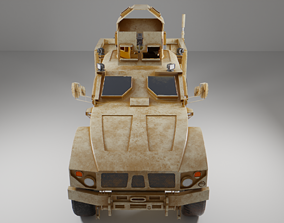 military vehicle oshkosh game ready model 3D asset