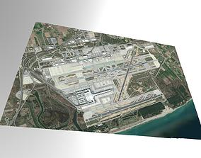 3D model Barcelona International Airport Spain