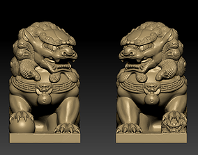 3D printable model Guardian Lions chinese