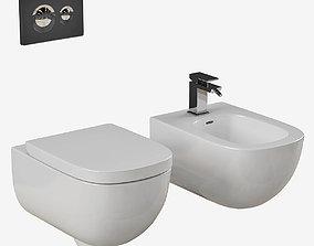 Laufen PALOMBA bidet toilet Part 1 3D