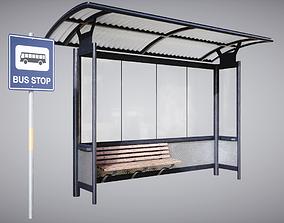 3D PBR Bus Stop