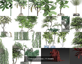 Collection of trees 3D model