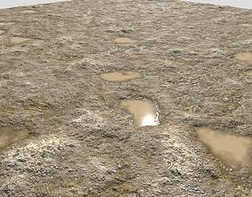 Rough sandy terrain 14 PBR 3D