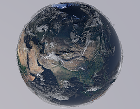 animated 21K Relief Earth 3D Model