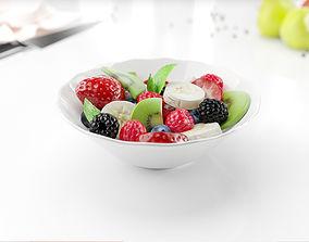 3D model Jar with fruits