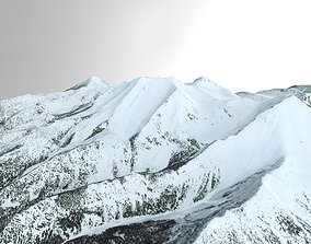 Snow Covered Mountain Range in Northern Montana 3D model
