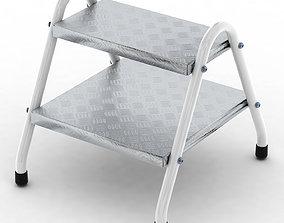 Stepladder Tubular Steel Aluminium household 3D